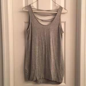 Sleeveless scoop back top